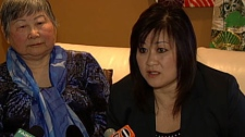 Vancouver South Conservative candidate Wai Young speaks to a select group of reporters in her living room. April 26, 2011. (CTV)