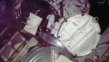 NASA space walk aborted helmet leal