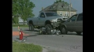 OPP are investigating a fatal motorcycle crash southeast of Delaware, Ont., on Tuesday, July 16, 2013. (Admar Ferreira / CTV London)