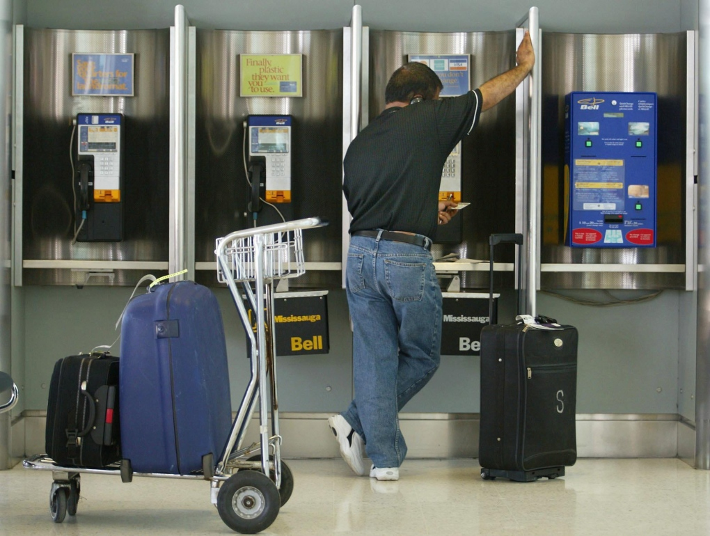 Payphones at Pearson International Airport