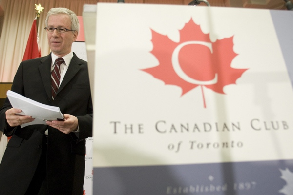 Federal Liberal leader Stephane Dion is seen after speaking in Toronto, Thursday May 15, 2008. (Adrian Wyld / THE CANADIAN PRESS)