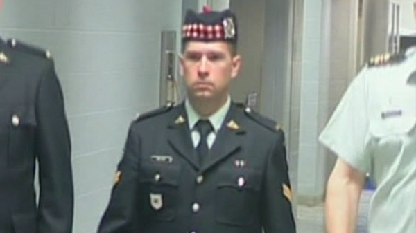 Ex-soldier Matthew Wilcox of Glace Bay, N.S. is seen at a Halifax court on Wednesday, April 27, 2011.