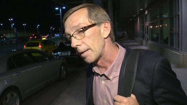 MLA Mike Allen speaks at Edmonton Airport