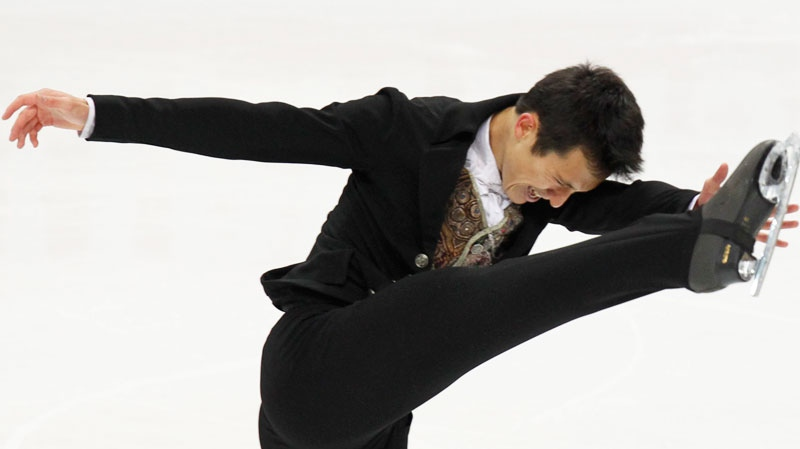 Canada's Patrick Chan performs his free program at the ISU Figure Skating World championships in Moscow, Russia, Thursday, April 28, 2011. (AP / Misha Japaridze)