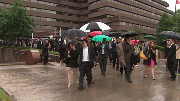 The union representing Canada's striking foreign service workers is asking Treasury Board President Tony Clement to settle the dispute through binding arbitration.