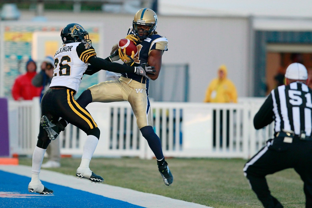 Cory Watson injured during Blue Bombers practice