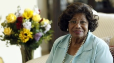 Katherine Jackson poses for a portrait in Calabasas, Calif., Wednesday, April 27, 2011. (AP / Matt S