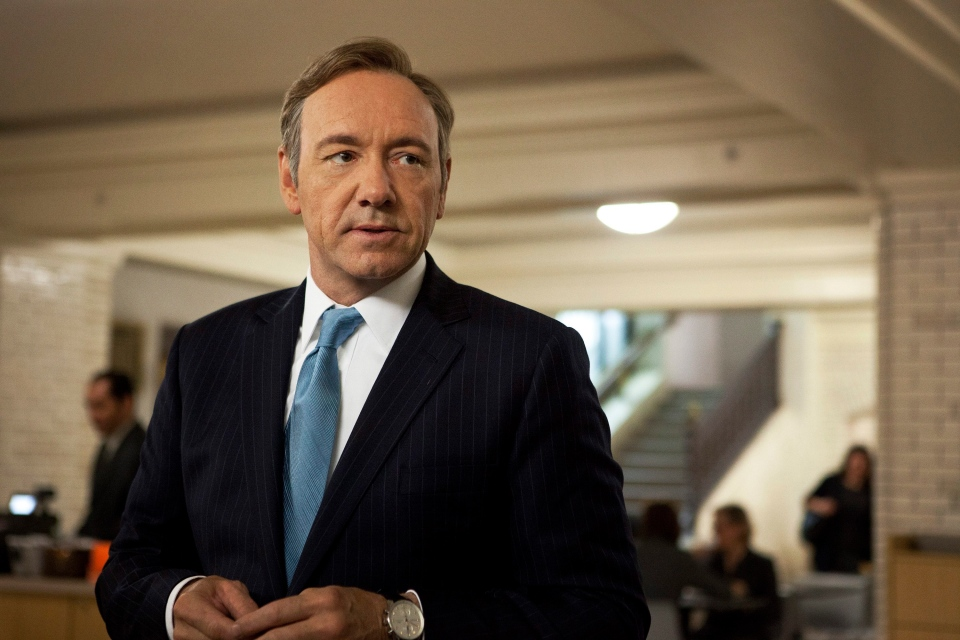 Kevin Spacey as U.S. Congressman Frank Underwood in a scene from the Netflix original series 'House of Cards'