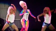 Nicki Minaj performs at Rogers Arena in Vancouver, B.C. on April 27, 2011. (Anil Sharma for ctvbc.ca)