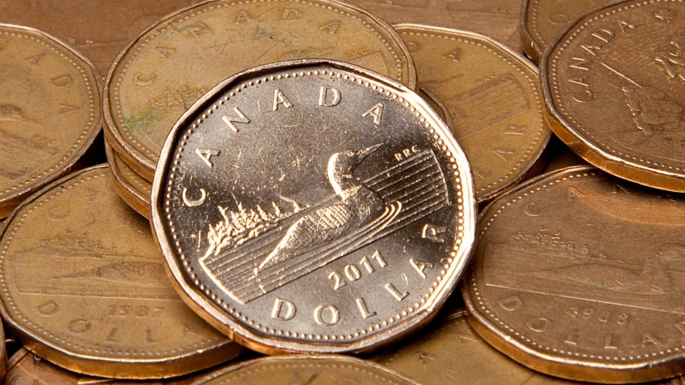 Loonies are pictured. (Jonathan Hayward / THE CANADIAN PRESS)