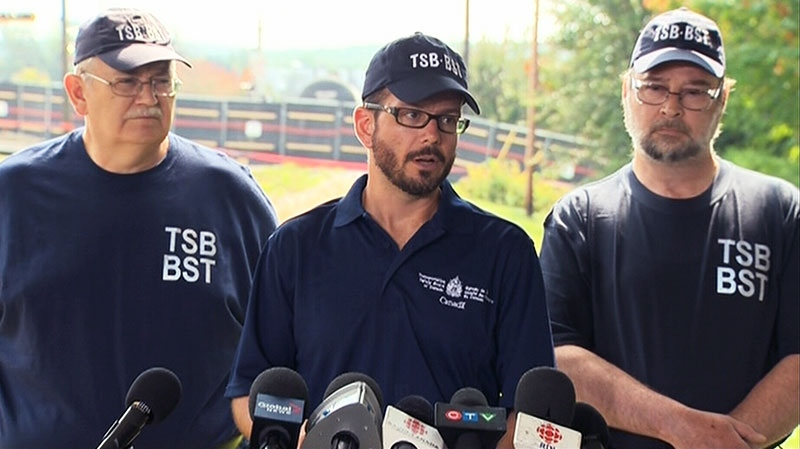 TSB provide an update on the Lac-Megantic derailment investigation, Friday, July 19, 2013.