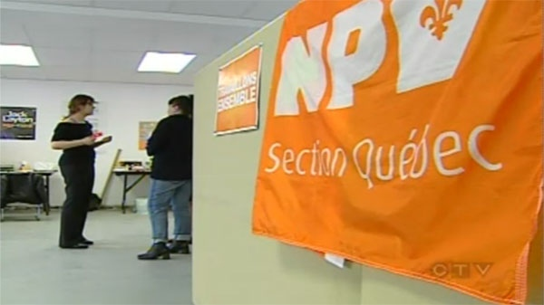 Small NDP riding offices like this one in Quebec City are getting big results.