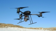 A small Draganflyer X6 drone is photographed on Jan. 8, 2009.  (Mesa County Sheriff's Unmanned Operations Team)