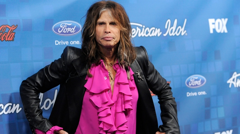 Steven Tyler poses at the 'American Idol' Finalists Party in Los Angeles, Thursday, March 3, 2011. (AP / Chris Pizzello)