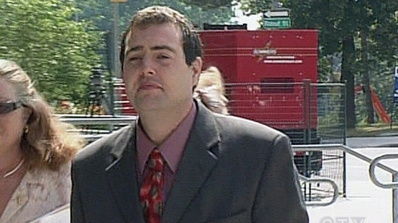 Christopher Gale is seen outside the courthouse in London, Ont.