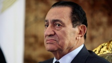 Egyptian President Hosni Mubarak looks on during a meeting in Cairo on Oct. 19, 2010. (AP / Amr Nabil)