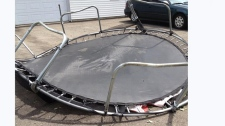 trampoline tossed in laval storm