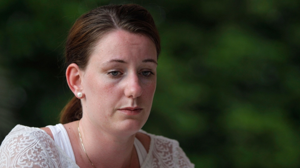 Marte Deborah Dalelv from Norway, 24, talks to the Associated Press reporter in Dubai on Friday, July 19, 2013. (AP / Kamran Jebreili)