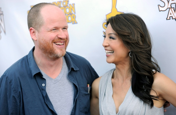 Joss Whedon with cast member Ming-Na Wen