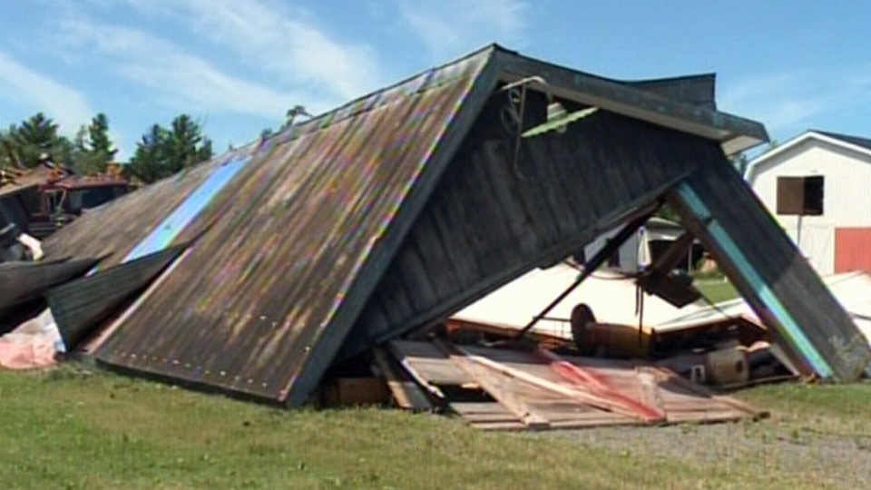 Possible tornado hits New Brunswick