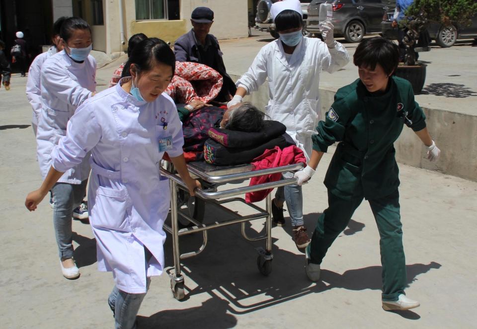 China earthquake Gansu province