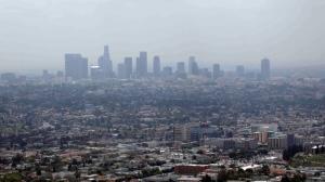 Smog covers downtown Los Angeles. (AP / Nick Ut)