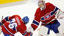 Carey Price and PK Subban celebrate following shu