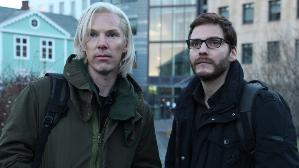 Benedict Cumberbatch, left, as Julian Assange in the film 'The Fifth Estate' which is set to open the Toronto International Film Festival.