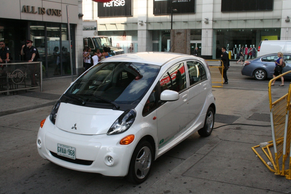 The Mitsubishi i-Miev is one of the cheapest electric vehicles on the market (Brent Jamieson/CTVNews.ca)