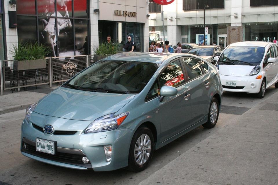 The Toyota Prius PHEV is the plug-in version of the popular Prius Hybrid (Brent Jamieson/CTVNews.ca)