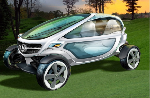 Mercedes Benz unveils luxury golf cart