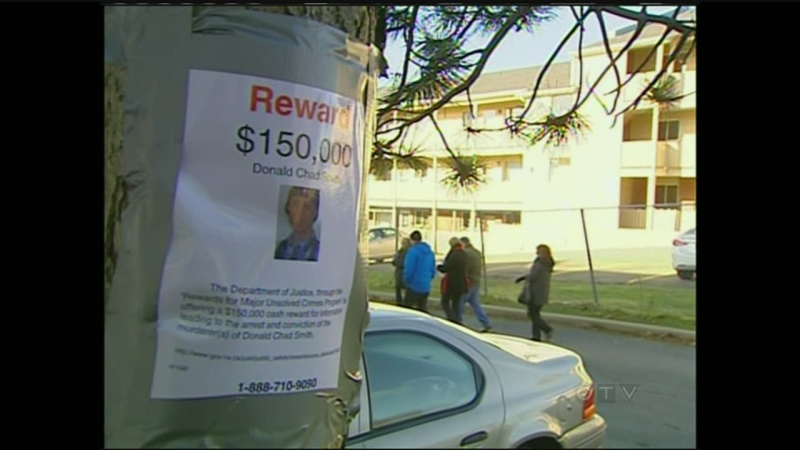 A missing person poster for Donald Chad Smith in 2010.