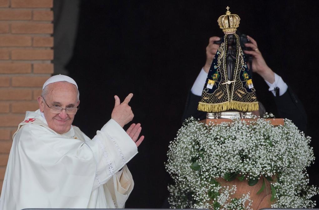 Pope Francis celebrates mass in Brazil