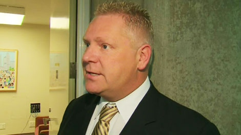Coun. Doug Ford discussed the benefits Toronto will see from a Conservative majority government, on May 3, 2011.