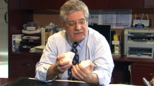 Toronto-based asthma specialist Dr. Mark Greenwald speaks with CTV News in this undated photo.