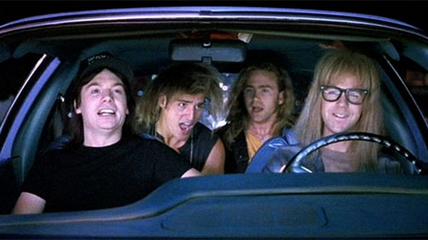 A scene from Paramount Pictures' 'Wayne's World'