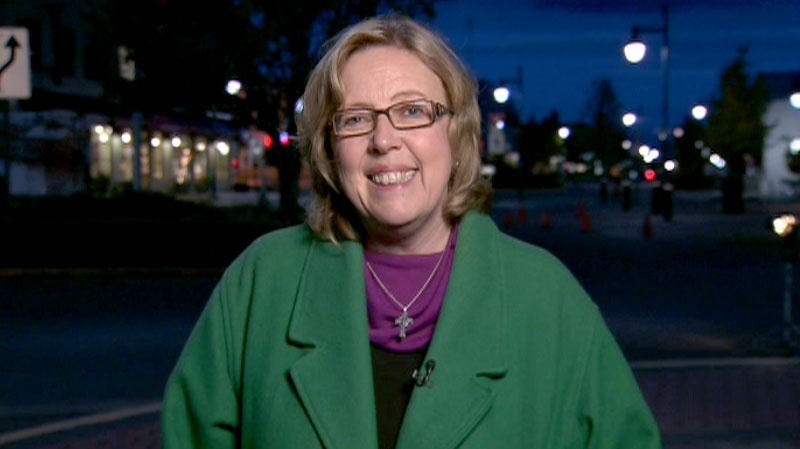 Green Party Leader Elizabeth May speaks to Canada AM, Tuesday, May 3, 2011.