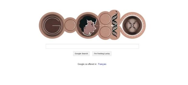Google Doodle honours Rosalind Franklin