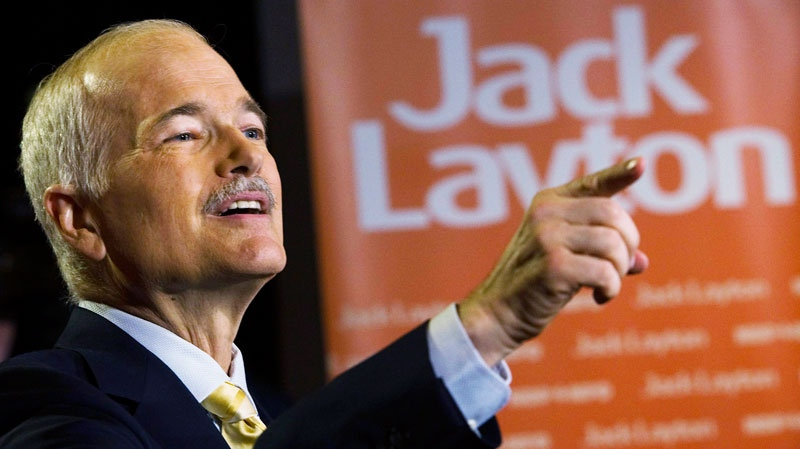 Jack Layton, NDP leader and now officially the leader of the opposition, speaks to the media at a press conference in Toronto on Tuesday, May 3, 2011. (Nathan Denette / THE CANADIAN PRESJack Layton, NDP leader and now officially the leader of the opposition, speaks to the media at a press conference in Toronto on Tuesday, May 3, 2011. (Nathan Denette / THE CANADIAN PRESS)S)