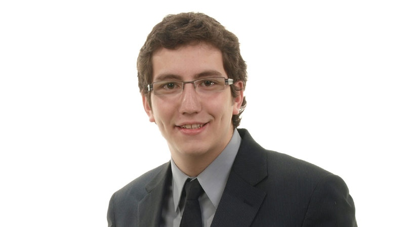 NDP candidate Pierre-Luc Dusseault is shown in an NDP handout photo. Dusseault, a 19-year-old student of applied politics at the Universite de Sherbrooke, now becomes the youngest member of Parliament in Canadian history, according to the House of Commons website. (THE CANADIAN PRESS/HO-NDP)