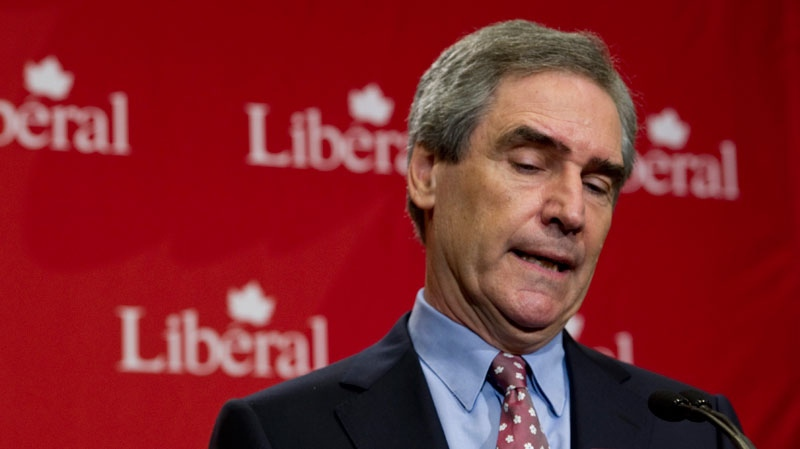 Liberal Leader Michael Ignatieff announces his resignation as party leader Tuesday, May 3, 2011 in Toronto. (Paul Chiasson / THE CANADIAN PRESS)