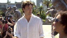 Justin Trudeau at rally