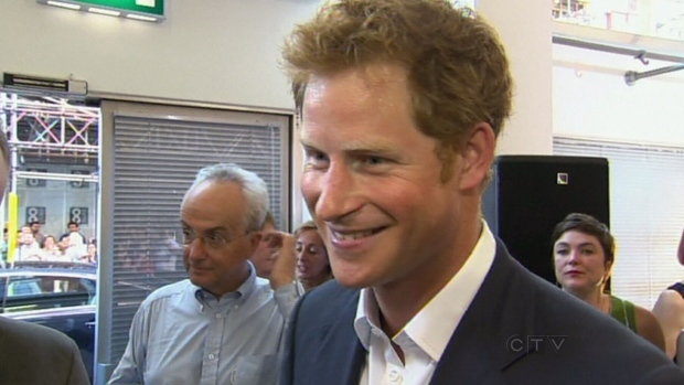 Prince Harry on his nephew