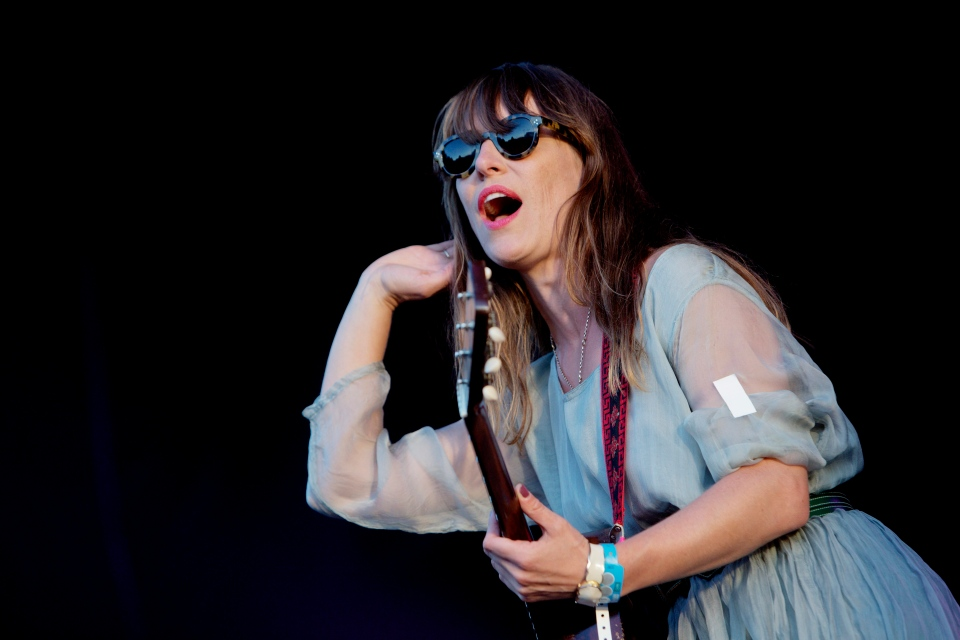 Feist performs at the Oya music festival in Oslo, Norway, Wednesday Aug. 8, 2012. (AP / NTB scanpix Norway / Stian Lysberg Solum)