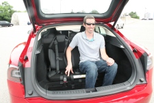 Tesla Model S Jumpseat with adult