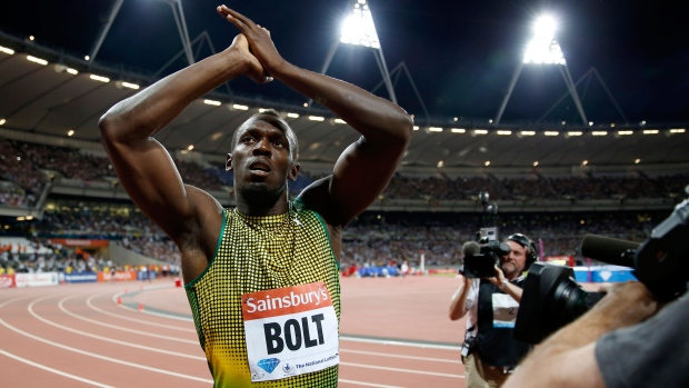 Usain Bolt during the Diamond League race