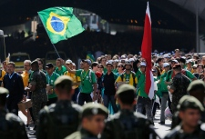 Pilgrims attend World Youth Day in Rio de Janeiro