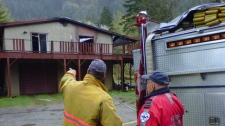 An 18-month-old could not be saved after a fire ripped through a home in Silver Creek, just west of Hope, B.C. May 5, 2011. (CTV)