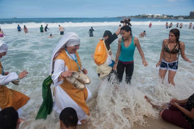 Copacabana beach Pope