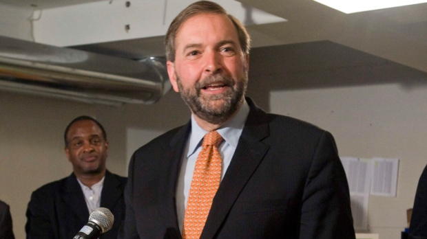 NDP deputy leader Thomas Mulcair speaks to reporters during a post-election news conference in Montreal, Tuesday, May 3, 2011. (Graham Hughes / THE CANADIAN PRESS)
